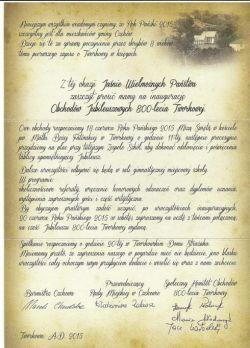 Czytaj więcej: Zaproszenie na uroczystości jubileuszowe 800-lecia Tworkowej.